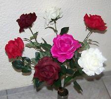 Ramo de Rosas de 7 rosas con brillo en 4 colores Aprox. 65 cm