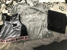 New listing Size 4 & Xs Clothing Bundle  Black Jeans Sports Bra Disney 9-10 Yr XS T Shirt