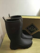 Muck Boots Arctic Ice Vibram Grip Tall Wellington Warm Winter Boots Brown UK 10