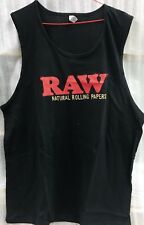 Natural Undefined Raw Rolling Papers Mens Black XL Sleeveless/Tank Free Shipping