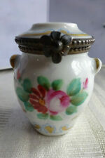 Limoges France Porcelain Hinged Urn Trinket Box