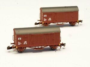 FR 2 ea BOX CAR SET type Gklms Norwegian NSB Norway Z scale Freudenreich