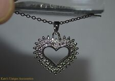 Prime Art & Jewel Brand Precious Silver Plated Heart Necklace Great Gift Idea