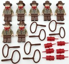 LEGO 7 NEW COWBOY WILD WEST WESTERN MINIFIGURES MEN PEOPLE WITH ACCESSORIES