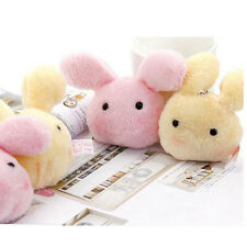 Kawaii 7cm Fluffy Plush rabbit Stuffed Doll Toy Kid's Wedding gift plush toys FF