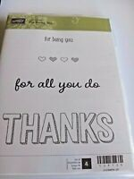 Never Used Thinking of You 2002 Stampin/' Up Cute Critters Set of 4 Stamps