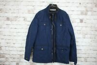 Crew Clothing Blue Quilted Jacket Size Large No.M404 20/2