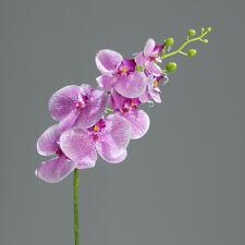 Orchidee Phalaenopsis künstlich mit 7 Blüten purpur-weis 83cm Deko