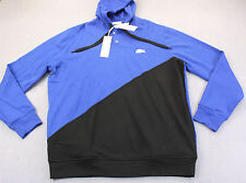 LACOSTE Men BLUE BLACK GLOW BIG CROCODILE SWEATSHIRT HOODY NWT 8L XLT TALL  $185