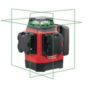 Hilti Laser Level Multi Line Green Self Leveling Magnetic Bracket Case 131 Ft