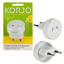 Korjo Travel Adaptor For Europe Italy & Switzerland From Australia New Zealand