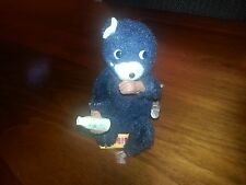 Vintage Wind Up Hungary Cub Milk Drinking Bear Tin Toy