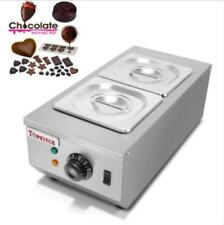 2-Tanks Chocolate Melter Melting Machine Electric Water Heating 220V a