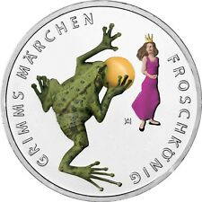 Deutschland 20 Euro Grimm Froschkönig Silbermünze 2018 Gedenkmünze in Farbe