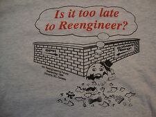 Vintage 4th Reengineering Forum 90's grunge Spoof engineer punk rock T Shirt XL