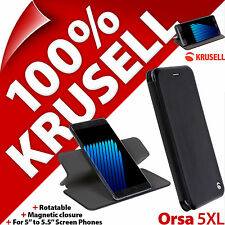 Krusell ORSA FolioCase 5xl Book Case Cover Viewing Stand Rotatable Card Pocket HTC 10 EVO Bolt Butterfly 2