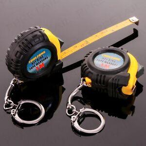 2x 1M KEY RING POCKET FOB TAPE MEASURES Portable Metric Imperial Small Mini Set