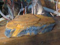 Large Rough & Raw Blue Tiger Eye Crystal Chunk - Omni New Age