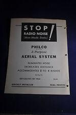 1933 *ORIGINAL* Philco Wiring Diagram and Parts Lists Philco &Transitone Radio