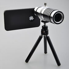 14X Optical Zoom Lens Camera Telescope Tripod Case Cover For Apple iPhone 4S 4