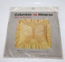 Vintage Columbia Minerva Embroidery Pillow Kit Hen Scratch Gingham Butterfly