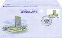 UNITED NATIONS 1989 39c AIRLETTER UN BUILDING FIRST DAY ISSUE NEW YORK SHS