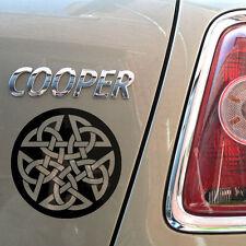 "8""  Celtic Pentagram Gloss Vinyl Car Sticker, Wicca, Witch, Pagan, Loveknot"