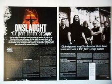 COUPURE DE PRESSE-CLIPPING :  ONSLAUGHT [2pages] 2007 Nige Rockett,Killing Peace