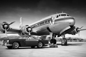 Dc-6 Airplane Vintage Wall Art Home Decor - POSTER 24x36
