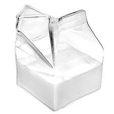 Half Pint Blown Glass Mini Milk Creamer Carton Container