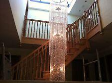 Stairwell, foyer 3 Metre Lead Crystal custom Chandelier Ceiling Light lamp