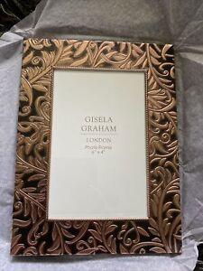 """Gisela Graham Fit Photo 4""""x 6"""" Stunning Copper Design Frame, Freestanding - 586"""