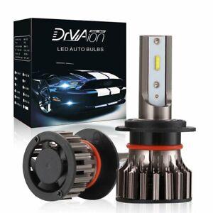 2X H7 LED Headlight Kit Mini Bulbs Fog Light 6500K 100W 10000LM Hi/Low beam UK