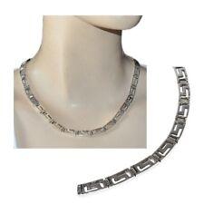 Collier en argent massif 925 grosse maille plate ajourée 46cm 41,55gr bijou