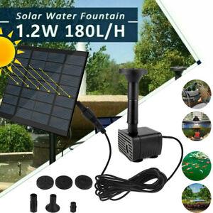 Solar Springbrunnen Mit Akku Pumpe Teichpumpe Wasserspiel Fontäne DHL 2021 NEW