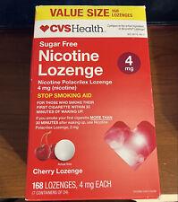 Nicotine Lozenges 4mg  Cherry 168 count exp. 5/2022