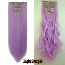 Real Natural Clip In Hair Extensions 8Pcs Full Head Hair Extentions As Human PE5
