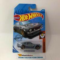 Custom Ford Maverick #98 * Silver w/ Greddy Tampo * 2019 Hot Wheels Case N & M