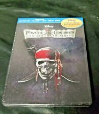 Pirates Of The Caribbean On Stranger Tides Disney -Steelbook-Blu-ray-SEALED