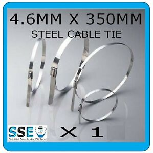 Stainless Steel Cable Tie - 4.6MM X 350mm-Elec/Exhaust - Professional Grade  X1