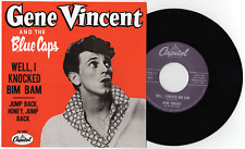 "GENE VINCENT -""WELL I KNOCKED"" b/w ""JUMP BACK, HONEY JUMP BACK"" HEAR BOTH"