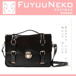 Japan JK Uniform Bag Retro College BookBag Black Messenger Bags Women's Backpack