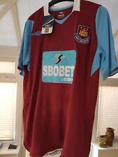 BNWT WEST HAM UNITED home shirt jersey UMBRO 2008-09 The Hammers trikot M