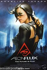 Aeon Flux Movie Poster From Asia - Charlize Theron Looking Over Her Shoulder