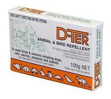 D-TER, DTER ANIMAL & BIRD REPELLANT Repel Dogs, Cats, Possum 100gm