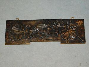 Handtuchhalter Holz geschnitzt Blattdekor um 1910/20 Geschirrtuchhalter