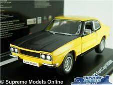 FORD CAPRI MK1 RS2600 MODEL CAR 1:32 SCALE YELLOW/BLACK 1970 BURAGO K8