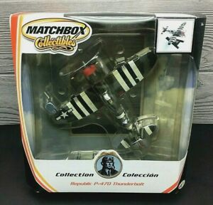 MATCHBOX COLLECTIBLES REPUBLIC P-470 THUNDERBOLT FIGHTER PLANE W/STAND