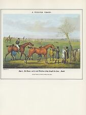 "1974 Vintage HORSE RACE ""STEEPLE CHASE PLATE VI THE FINISH"" COLOR Art Lithograph"