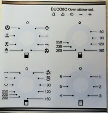 Smeg Duco8C compatible fascia stickers, oven panel may suit other models.